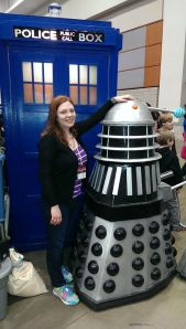 Look, it's me with a Dalek. Exterminate, exterminate!