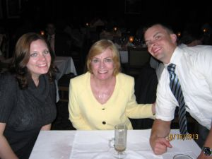 My mom, my brother, and me, a few weeks before her death.